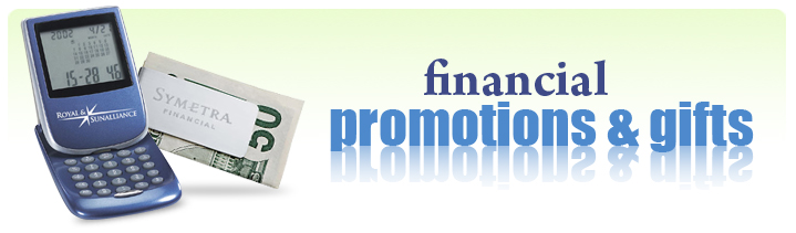 financial services promotional products