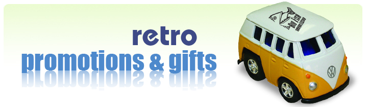 retro themed promotional products