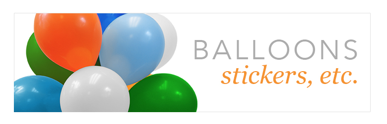 promotional balloons and stickers