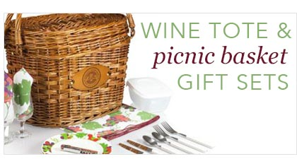 Wine Tote & Picnic Basket Gift Sets by Business Gifts ...