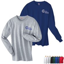 Hanes® Tagless Long Sleeve Tee, Colors